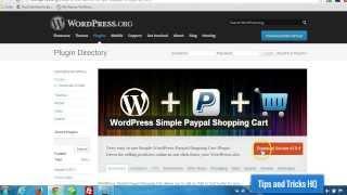 WordPress Simple Shopping Cart Usage thumbnail