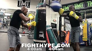 MAYWEATHER KILLS 4 AM WORKOUT TRAINING FOR MCGREGOR; NO SLEEP AFTER FLIGHT BACK FROM CALI