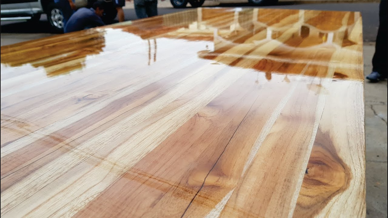 Amazing Table With Resin Inlay Wood T Resinas Mesas Y
