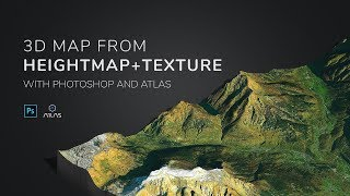 Generate 3D Map from heightmap + texture in Photoshop and ATLAS plugin - 3D-Mapper.com