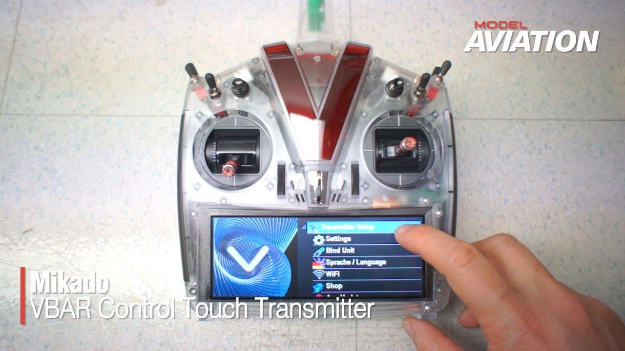 Mikado Vbar Control Touch Transmitter   Model Aviation