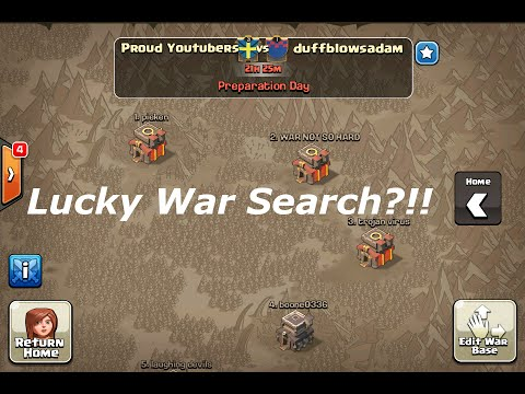 Clash of Clans - LUCKIEST Clan War Search Ever?!