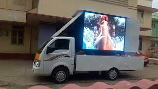 Video Wall Installed in Van for Advertisements - Nellai Systems