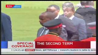 Rwandan President, Paul Kagame arrives at Kasarani Stadium for the inauguration ceremony