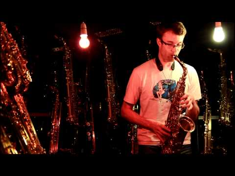 Smooth Criminal - Alto / Contrabass Saxophone Duet