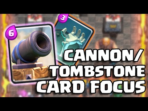 Clash Royale   THE MAGIC OF THE TOMBSTONE & CANNON CARD [DEFENSIVE FOCUS]