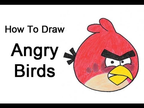 How To Draw Angry Birds Red