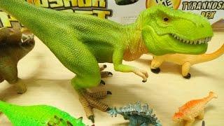 Dinosaur Toys Collection for Kids T Rex Velociraptor Spinosaurus Triceratops thumbnail