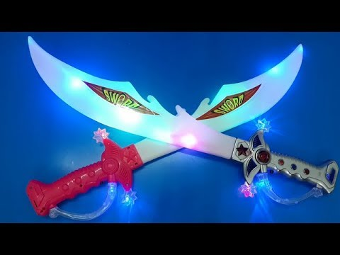 Ninja Sword Toy Light-Up With Motion Activated Fighting Sounds