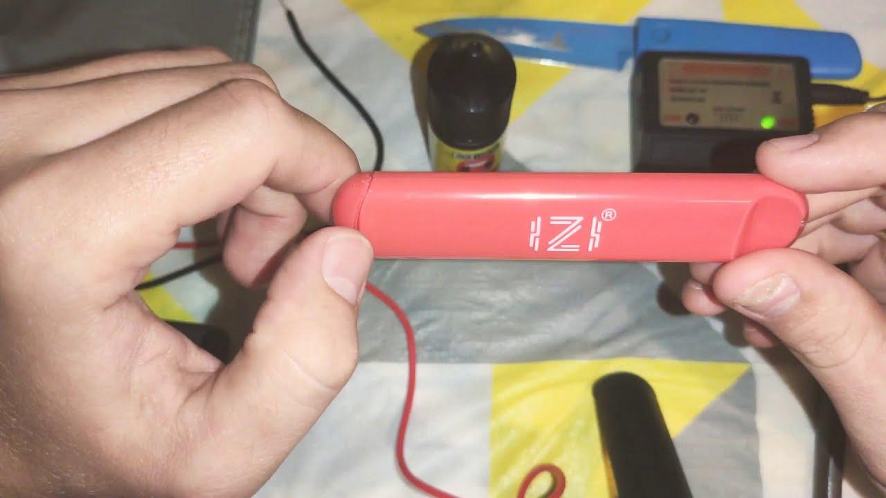 как зарядить одноразовую электронную сигарету inhale