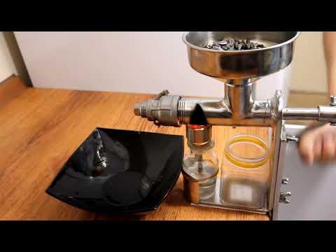 Ручной пресс холодного отжима масла (неочищенные семена подсолнечника)