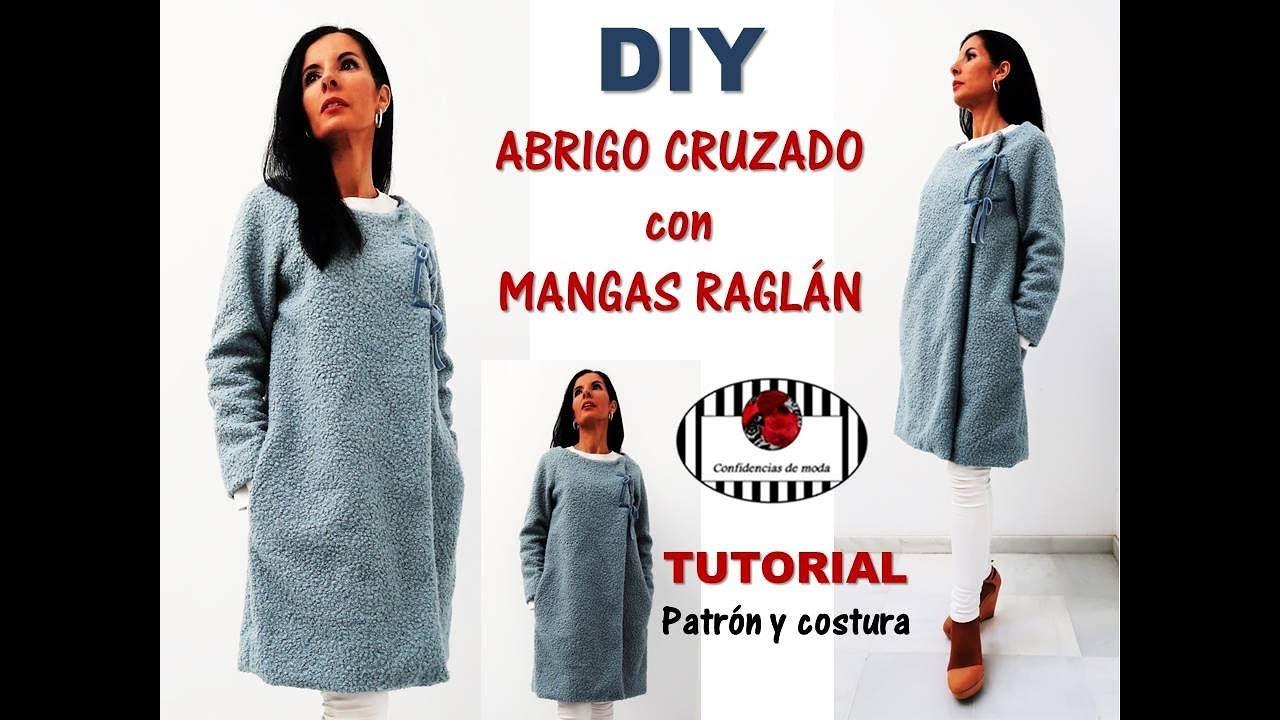 DIY. Cómo hacer un abrigo con manga raglán. Tutorial patrón y ...