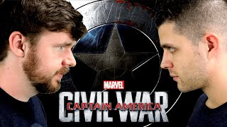 My friend watches CAPTAIN AMERICA: CIVIL WAR for the FIRST time || MCU Phase 3