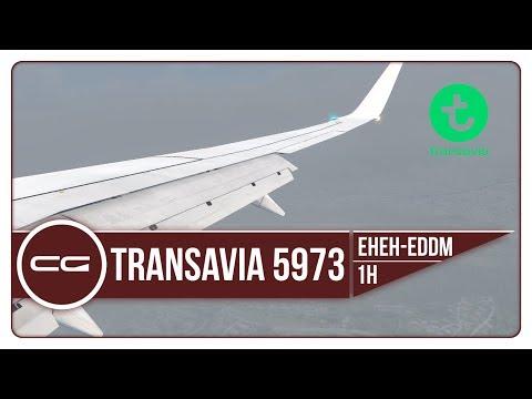 P3D v4 | EHEH (Eindhoven) - EDDM (Munich) | Transavia 5973 | PMDG 737-800NGX