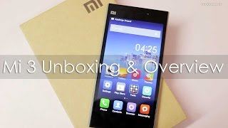 Xiaomi Mi 3 Unboxing First Boot & Hands on Overview Retail Indian Unit