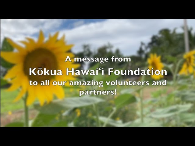 2019-20 KHF Volunteer & Partner Mahalo Slideshow