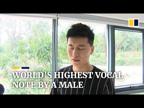 Chinese man breaks world record for 'highest vocal note by a male' with ear-piercing singing