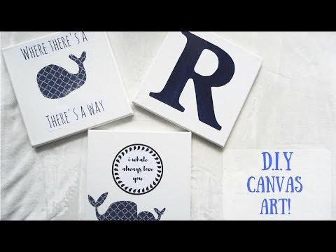 CANVAS ART | EASY DIY!