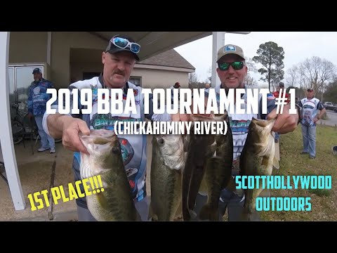 2019 BBA Bass Fishing Tournament #1 (Chickahominy River)   FIRST PLACE!!