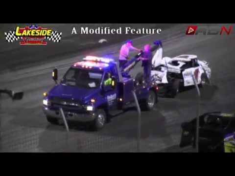 The 1K of Tim Karrick gets upside down Lakeside Speedway 7.23.16