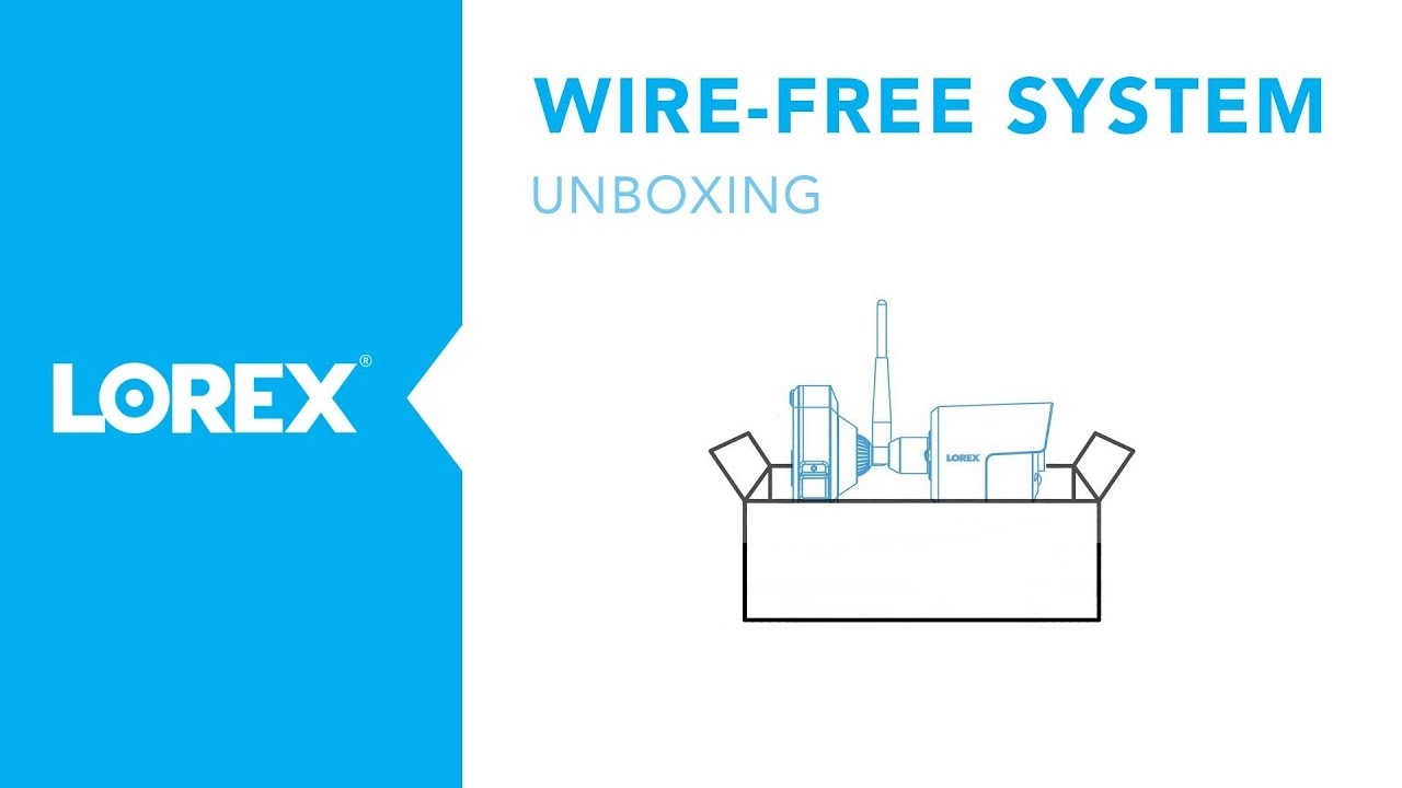 hight resolution of unboxing the wire free camera system lorex technology inc