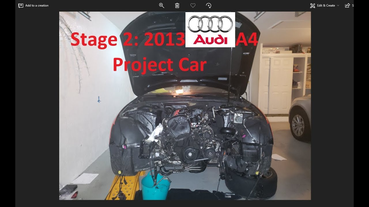 B85 Audi A4 Proj Diy Remove Entire Front End Radiator Its Frame