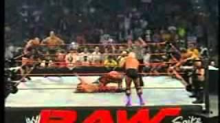 WWE   RAW   Goldberg, Shawn HBK Michaels & Maven vs Evolution HHH, Randy Orton & Rick Flair RAW 01 09 2003