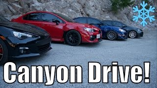 homepage tile video photo for Canyon Drive + WE FOUND SNOW IN CALI! GTI, BRZ, WRX vlog