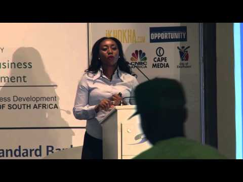 Ethel Nyembe, Standard Bank head of Small Enterprise, at SMME Opportunity Roadshow