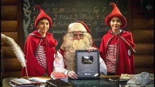 100,000 subscribers: Santa Claus & Santatelevision get Youtube Silver Creator Award - Lapland