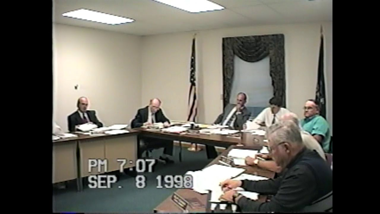 Champlain Town Board Meeting  9-8-98