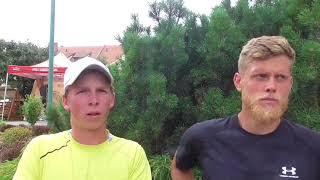 Antonín Bolardt a Marek Řeháček po porážce ve čtvrtfinále deblu Rieter Open Pardubice 2018