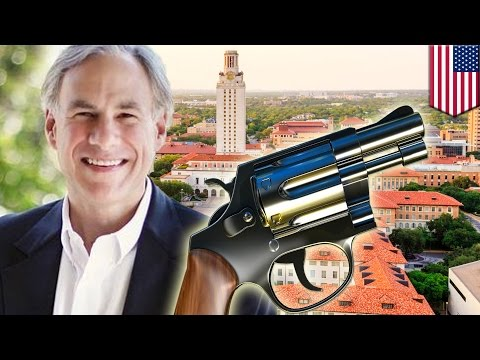 Concealed carry guns on college campus: Texas governor Greg Abbott expected to sign bill - TomoNews