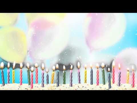 Fondo Video Background Full HD Birthday Candles Velas de Cumpleaños