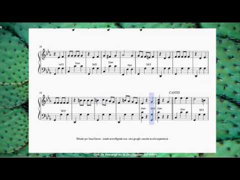 Sandunga.vals. tradicional mexicana. partitura para acordeón.