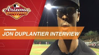 Jon Duplantier reacts to his strong outing