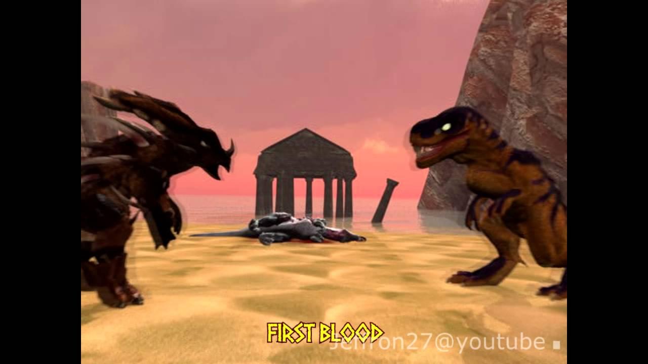 Primal Rage : Armadon vs Sauron Animation. - YouTube