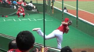 広島カープ  カイル・レグナルト (Kyle Regnalt) ブルペン投球練習 2019.6.5
