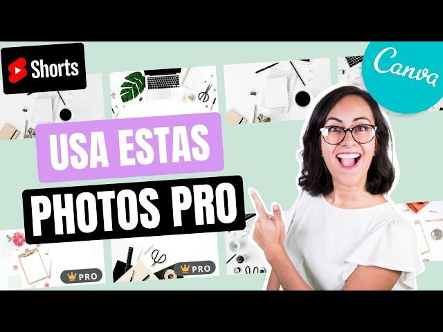 PREMIUM: Cómo encontrar Fotos creativas en CANVA | Shorts Diana Muñoz