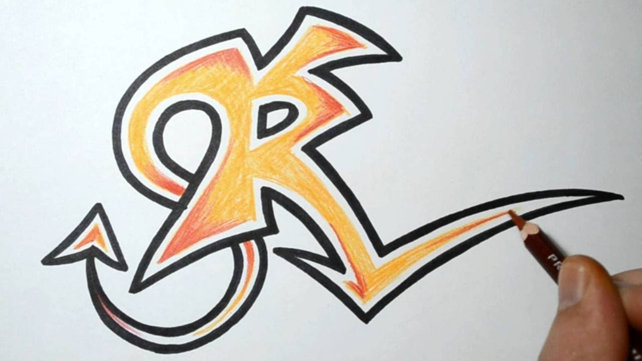 How To Draw Wild Graffiti Letters R Youtube