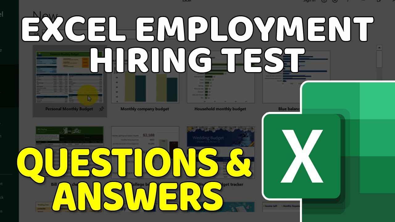 How To Pass Excel Test  Top Excel Questions Asked in Job Interview