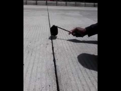 Rigid Pavement Joint Sealant Youtube