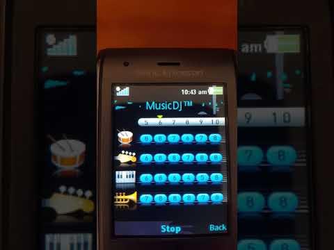 Sony Ericsson melody created on MusicDJ