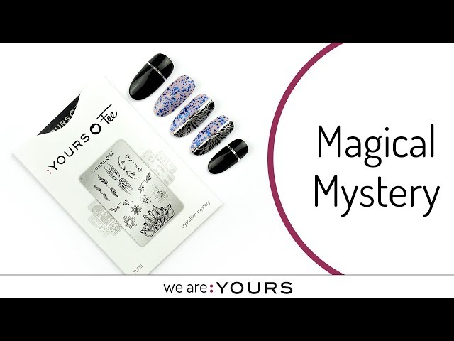 Stamping with the Crystalline Mystery stamping plate