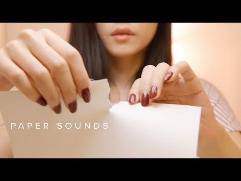 ASMR Paper Ripping Tearing Sounds (No Talking)