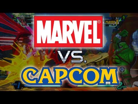 MARVEL VS CAPCOM IS THE BEST FIGHTING GAME EVER!!! - Marvel vs Capcom Gameplay - 동영상