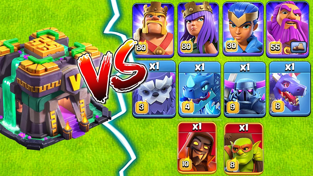 Th14 Vs Heroes and Max Troops! Clash of Clans......Coc