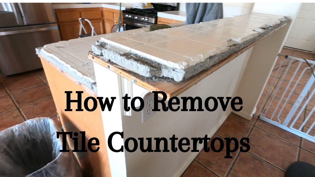 How To Remove Kitchen Tile Countertops Youtube