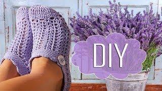 Вяжем носки следки крючком. How to crochet socks