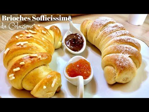 BRIOCHES SOFFICISSIME DA COLAZIONE ricetta facile - TUTTI A TAVOLA